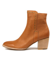 BRISTING Ankle Boots in Dark Tan Leather