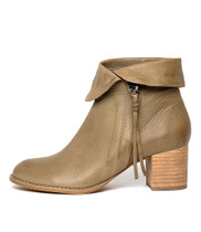 SHAREEDS Ankle Boots in Khaki Leather