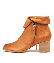 SHAREEDS Ankle Boots in Dark Tan Leather