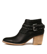 BENITO Ankle Boots in Black Leather