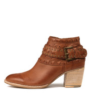 BENITO Ankle Boots in Cognac Leather