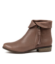 SHARDEYS Ankle Boots in Taupe Leather
