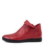 GURNEY Ankle Boots in Red Leather
