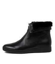 GLENNIE Ankle Boots in Black Leather