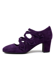 EMELDA High Heels in Purple Suede