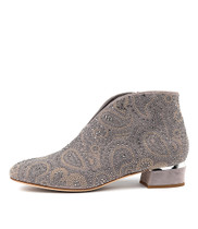 GERMAN Ankle Boots in Misty Suede