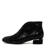 GERMAN Ankle Boots in Black Suede