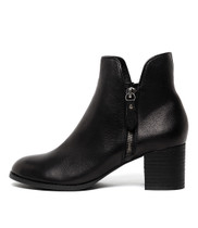 SHIANNELY Ankle Boots in Black Leather
