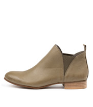 FOE Ankle Boots in Khaki Leather