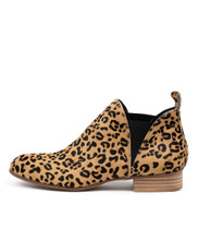 FOE Ankle Boots in Ocelot Pony Hair