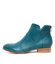 FRONIA Ankle Boots in Teal Leather