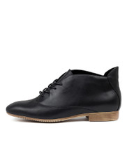 KHARI Ankle Boots in Black Leather