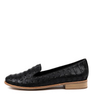 ARNO Flats in Black Leather
