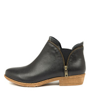 RUBEE Ankle Boot Navy Leather