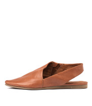 CODIE Flats in Tan Leather