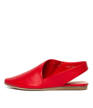 CODIE Flats in Red Leather