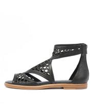 NORETA Sandals in Black Leather