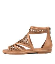 NORETA Sandals in Dark Tan Leather