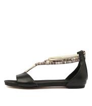 JAZMIN Flat Sandal in Black Multi
