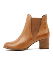 SADORE Ankle Boots in Dark Tan Leather