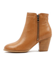 ROBYS Ankle Boots in Dark Tan Leather
