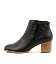 SCALES Ankle Boots in Black Leather