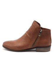 SPLIT Ankle Boots in Tan Leather