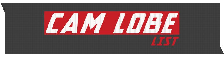 Cam Motion - Cam Lobe Master Catalog List