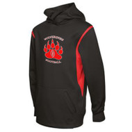 WMF ATC™ Youth Ptech Fleece VarCITY Hoodie - Black/Red