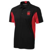 WMF Coal Harbour Adult Snag Resistant Colour Block Sport Shirt - Black/True Red