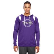 TCA Team 365 Men's Elite Performance Hoodie - Purple/White