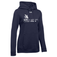 SON Under Armour Women's Hustle Fleece Hoodie - Navy