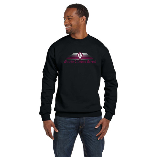 SCD Gildan Adult Premium Cotton Crewneck Sweatshirt - Black (SCD-012-BK)