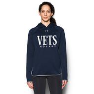 WNV Under Armour Women's Double Threat Armour Fleece Hoody - Navy/Steel (WNV-021-NY)
