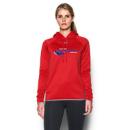 NSW Under Armour Women's Double Threat Armour Fleece Hoody - Red (NSW-028-RE)