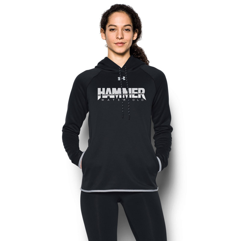 c51739830b HWP Under Armour Women's Double Threat Fleece Hoody - Black