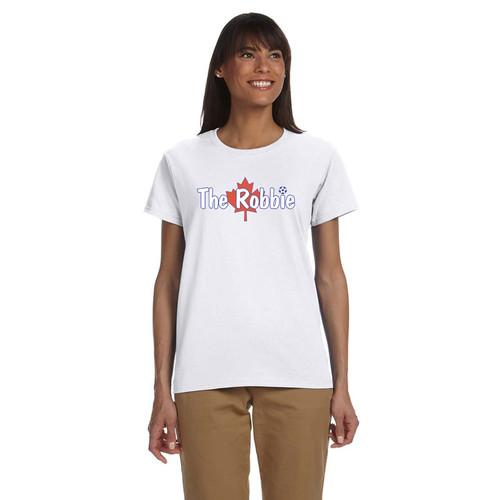 ROB Gildan Ultra Cotton Women's T-Shirt - White (ROB-031-WH)
