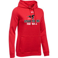 BMF Under Armour Women's Hustle Fleece Hoody - Red (BMF-022-RE)