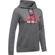 BMF Under Armour Women's Hustle Fleece Hoody - Carbon (BMF-022-CB)