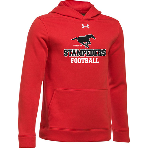 BMF Under Armour Youth Hustle Fleece Hoody - Red (BMF-044-RE)