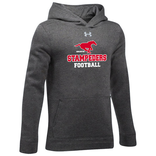 BMF Under Armour Youth Hustle Fleece Hoody - Carbon (BMF-044-CB)