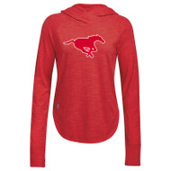 BMF Under Armour Women's Stadium Hoody - Red/Steel (BMF-102-RE)