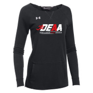 DEAA Under Armour Women's Hustle Fleece Crew- Black (DEA-208-BK)