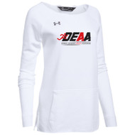 DEAA Under Armour Women's Hustle Fleece Crew- White (DEA-209-WH)