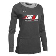 DEAA Under Armour Women's Hustle Fleece Crew- Carbon (DEA-210-CB)