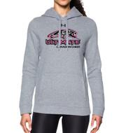 UCC Under Armour Women's Hustle Fleece Hoody - True Grey (UCC-201-TG)