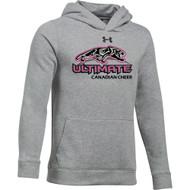 UCC Under Armour Youth Hustle Fleece Hoody - True Grey (UCC-301-TG)