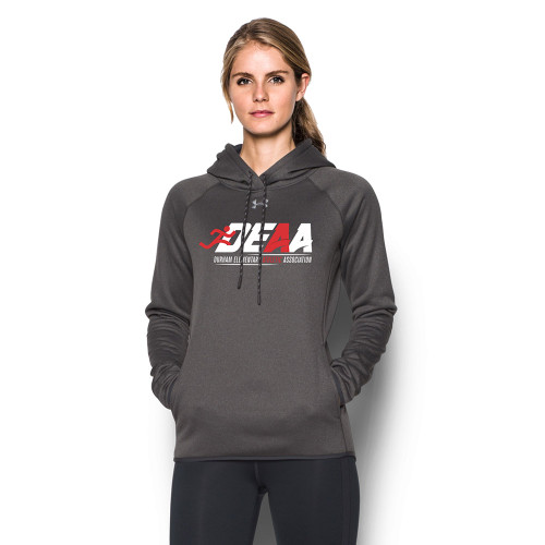 DEAA Under Armour Women's Double Threat Fleece Hoody - Carbon (DEA-214-CB)