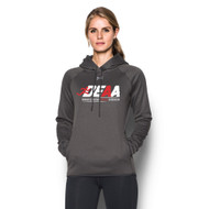DEAA Under Armour Women's Double Threat Fleece Hoody - Carbon (DEA-214-CB)