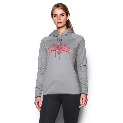 AJX Under Armour Women's Double Threat Fleece Hoody - True Grey (AJX-023-TG)